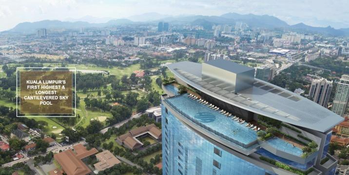 马来西亚吉隆坡KLCC高端奢华住宅公寓豪景园- 4房