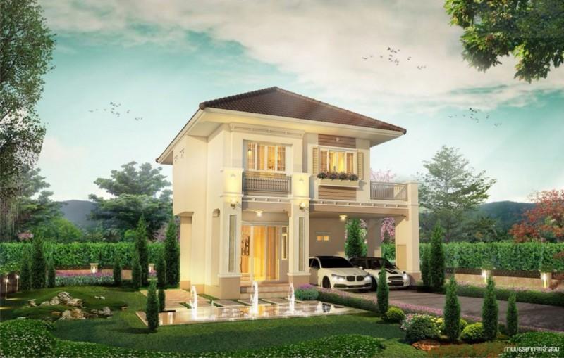 泰国清迈DIYA VALLEY SARAPHI 欧洲风情别墅,编号23870