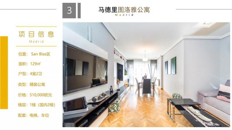 西班牙房产:万达球场图洛雅公寓4房