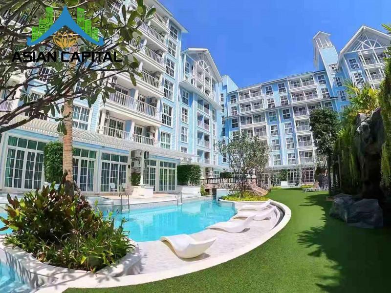 泰国芭提雅海边私家海滩现房包租公寓 现在送精装修,编号46739