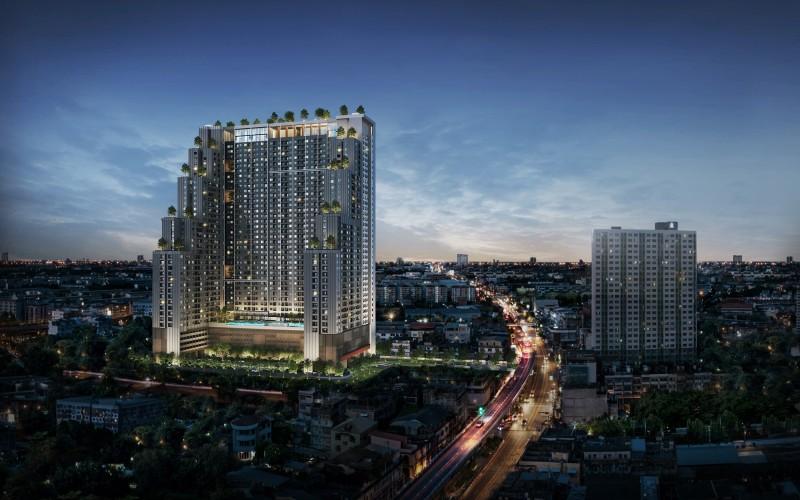 泰国曼谷地铁学区房-大学里小两室一厅,编号47147