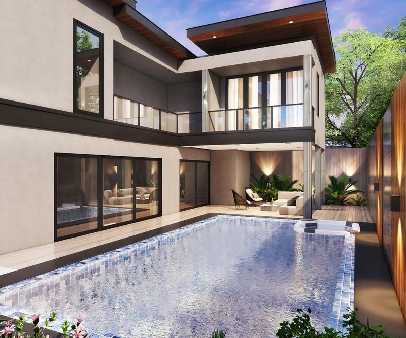 泰国芭提雅新建投资日租项目中天宁静别墅Serenity,编号47323