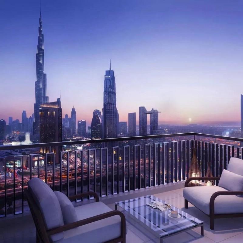 迪拜市中心公寓Downtown Views,世界之最景观