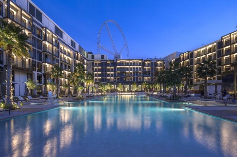 迪拜房产投资: 世界最大摩天轮区,迪拜蓝水岛,海景房