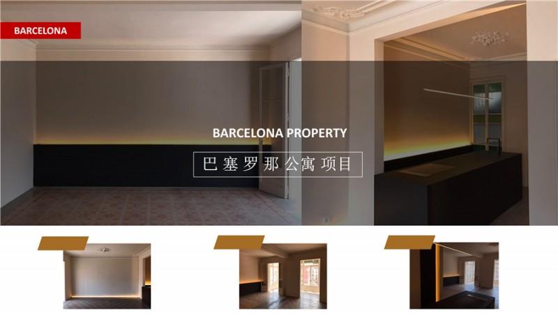 巴塞罗那扩展区黄金地段2房精装公寓