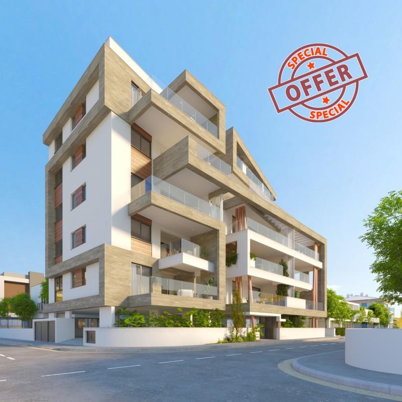 塞浦路斯拉纳卡市中心黄金好地段 2房公寓投资自住出租