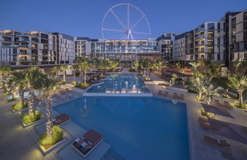迪拜房产: 迪拜蓝水岛海景房,世界最大摩天轮+凯撒酒店小区
