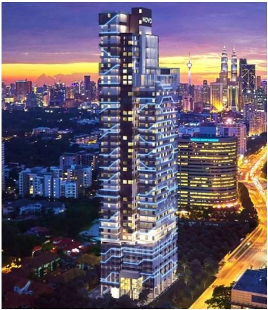 吉隆坡NOVO诺华安邦,市中心大使馆区和富人区公寓