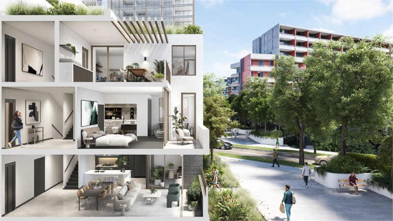 悉尼内城全新高端公寓及联排别墅!