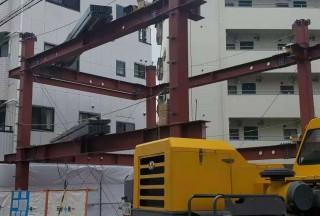 JA天王寺项目正在铁骨架工程
