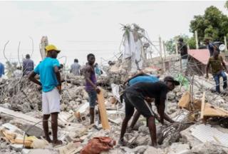 海地地震死亡人数升至1419人 受伤人数目前为6000