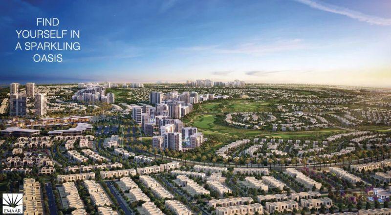 迪拜房产 最有潜力的投资区域,目前超高性价比高尔夫别墅区