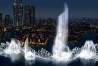 迪拜喷泉(迪拜音乐喷泉)